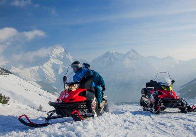 Snowmobile tour for children – 2 Alpes Motoneige