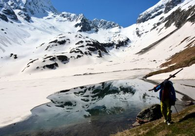 Ski touring from Bourg d'Arud
