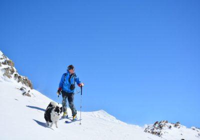 Ski touring from the col du Glandon
