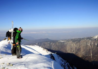 Ski touring from Oulles / Vallée de la Lignarre