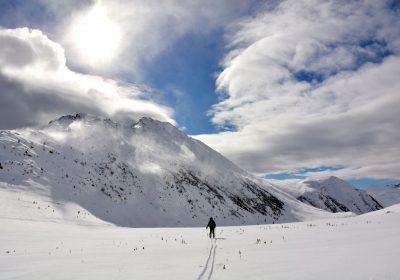 Ski touring from Huez