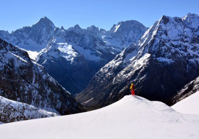 Ski touring from Les Granges