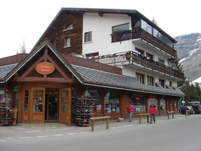 The front of the store