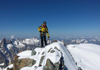 Winter mountaineering with Bureau des Guides
