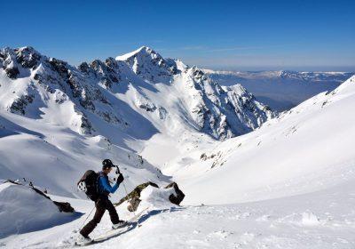 Ski touring from le Rivier d'Allemond / Belledonne