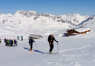 Ski touring from the col de la Croix de Fer