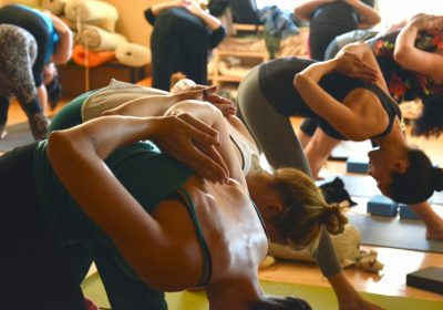 Yoga and relaxation session