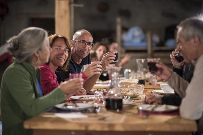 Dinner at Refuge de la Chamoissière – Villar d'Arène- La Grave