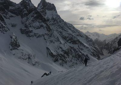 Ski de randonnée from Les Près
