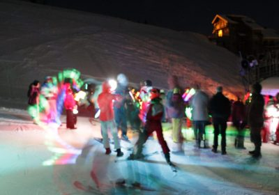 French Ski School torchlit descent