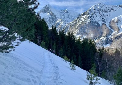 Exploring the Col d'Ornon on snowshoes