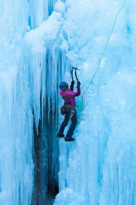 Ice climbing with a mountain guide (1)